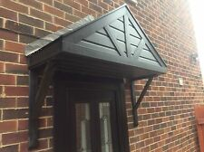 DOOR CANOPY, PORCH, BLACK ASH , NO ASSEMBLY REQUIRED, BUILT UP AND READY TO FIT,