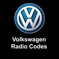 VW Volkswagen Radio Code Unlock Stereo Codes PIN | RCD 310 300 200 210 215