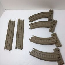 """6 Assorted Tracks Beige Thomas & Friends Trackmaster Curved Riser 8.5"""" Straight"""