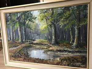 Oil Painting By Dorset Artist Denys Garle . Titled 'Still Waters' New Forest