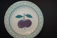 3 Hartstone Fruit Salad Plates Plum, Peach, Cherries