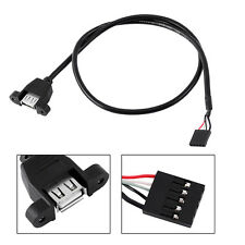 5 Pin Internal Motherboard Male Header to USB 2.0 Female Adapter Extension Cable
