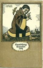 Germany 1908 Exhibition Munich N° 2 Art deco Mueller Hofman postal stationery