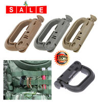 5x Molle Carabiner D Locking Ring Mount D-Ring Clip Snap Hook Buckle Camping