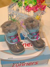 See Kai Run Abby WP boots Light Blue/Gray NEW with box - sizes 7 - 8 US toddler