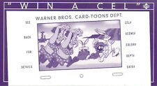 ALL-TIME TOONS 1996 UPPER DECK WIN A WIDEVISION CEL SEND-AWAY INSERT CARD
