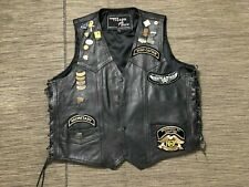 Harley Owners Group Brunswick NY Chapter Leather Vest Mens 54 Patches Pin