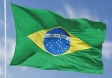 "Giant Brazil Brasil Brazilian Flag Bandiera 35"" x 60"" 89cm x 155cm - New In Pack"