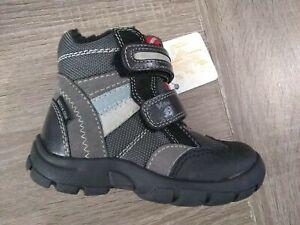 New $100 MINIBATA Kids Toddler Boys Shoes Boots LEATHER Sz 8 USA/24 EURO