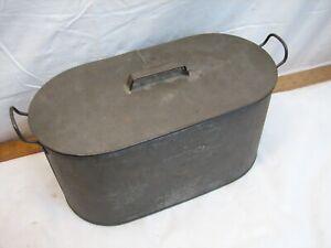 Antique Fagley Tin Metal Wash Boiler Tub Salesman Sample Display Toy Pail Mini