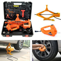 3 Ton Electric Hydraulic Floor Jack Lift +Electric Impact Wrench for Car Van SUV
