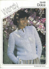 Vintage knitting pattern ladies round neck cardigan with set in sleeves