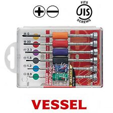 VESSEL JIS Precision Screwdriver Set 6 Pce Kit Made in Japan TD-56