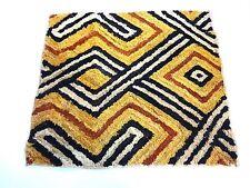 """Superb African Kuba Kasai Velvet Raffia Textile Zaire 22 """"by 20"""""""