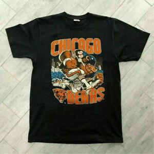 Chicago Bears NFL Football T shirt Team Champs 2022 Sport Vintage Men Black Tee