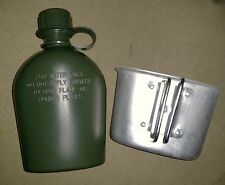 CANTEEN WATER BOTTLE WITH ALLUMINIUM CUP - 1 LITRE MILITARY STYLE NEW MADE