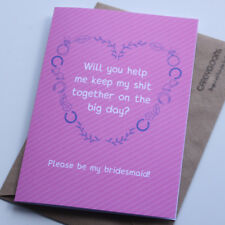 Please be my Bridesmaid card, Wedding, Proposal, Engagement, Rude, Funny Card
