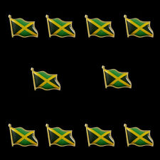 Flag Lapel Pin Fashion Waving Ornaments 10Pcs Jamaica Enamel Pin and Brooches