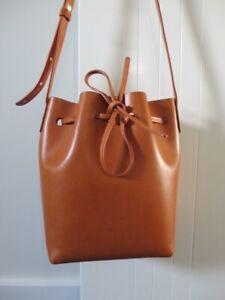 Mansur Gavriel Mini bucket bag in tan