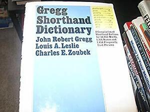 Gregg Shorthand Dictionary Hardcover John Robert Gregg