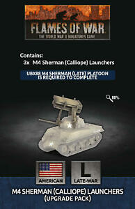 PREORDER Flames of War Late War USA T34 Calliope Launchers Upgrade Pack (US147)