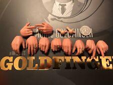 Studios Big Chief James Bond Aurico GOLDFINGER MANI x 10 Loose SCALA 1/6th