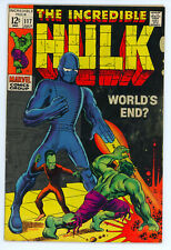 JERRY WEIST ESTATE: THE INCREDIBLE HULK #117 (Marvel 1969) VG condition NO RES