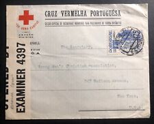 1940 Portugal Red Cross Censored Cover To Christian Association New York USA
