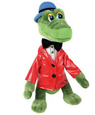 "Russian Talking Green Crocodile Plush Stuffed Toy Gena Cheburashka Red Coat 8"""