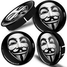 60mm Enjoliveur Jante Cache Moyeux Capuchon Centre Roué Masque Anonyme Universel