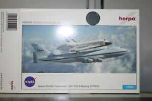 Herpa Wings 1:500 NASA Boeing 747SCA and Space Shuttle (515290)