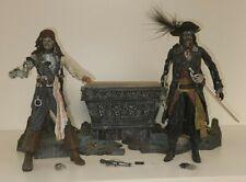 Disney Neca Pirates of the Caribbean Black Pearl Cursed Barbossa Cursed Sparrow