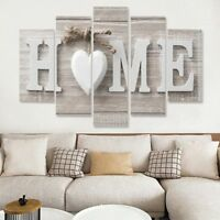 Home Love the Family 5 panel canvas Wall Art Home Decor Poster Picture Print