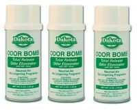 Dakota Odor Bomb Car Odor Eliminator - Neutral Air 5 oz. x 3 PACK DAK-48-NA
