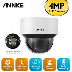 ANNKE 4MP 25X Optical Zoom PTZ Camera Security IP Network Audio H.265+ Home CCTV