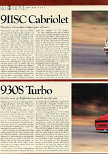1983 Porsche 911SC and 930S Turbo - Road Test - Classic Article D70
