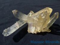 TOP COLLECTOR DISPLAY____LARGE OPTICAL CLEAR Arkansas Quartz Crystal Cluster