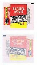 Beatles A Hard Day's Night Trading Card 5¢ Wax Pack Wrapper Vintage 1964 Intact