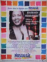 PUBLICITÉ 2002 NOSTALGIE AVEC BARBARA HENDRICKS - ADVERTISING