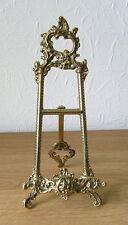 """Baroque"" Italian Cast Brass Display Easel 11cm x 25 cm"