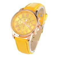 women's fashion genfer novel leather quartz wristwatch quarz armbanduhr KS