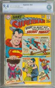 SUPERMAN #222 CBCS 9.4 WHITE PAGES