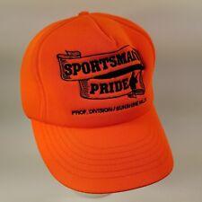 Vintage 90s Sportsman's Pride Trucker Hat Made In Usa Full Foam