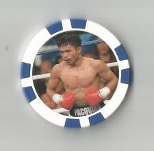 MANNY PACQUIAO   8 TIME WORLD CHAMPION   FIGHTER  COLLECTOR  CHIP