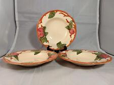 Set of 3 Franciscan Apple Rim Soup Bowls - Made in England - Circle Backstamp