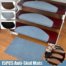 15pcs Mats Step Staircase Non Slip Mat Protection Cover Pads Stair Tread Carpet
