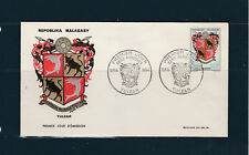 Madagascar   enveloppe 1er jour armoirie Tulear   1964