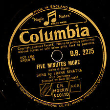 FRANK SINATRA  Five minutes more / Try a little tenderness       78rpm     S6434