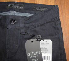 Guess Women Jeans 24 x 31 Brittney Skinny Slim Med Rise LEATHER Pockets NwT