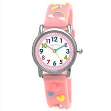 Pure Time® Mädchen Einhorn Pferd Pony Unicorn Kinder Uhr Mädchenuhr Rosa Weiß